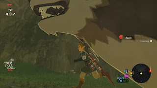 wolf link too close too camera running legend of zelda breath of the wild screenshot