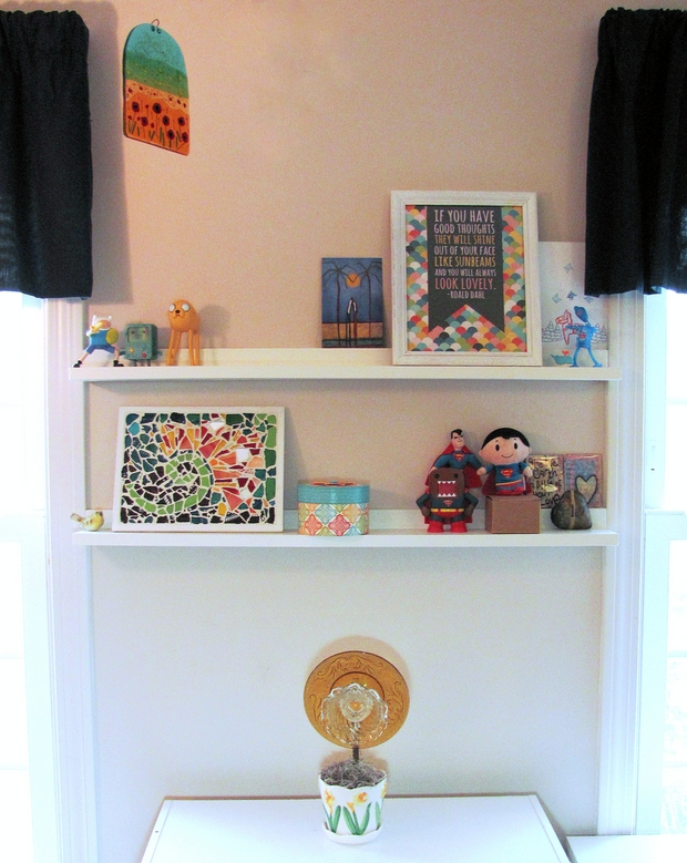 after DIY Shelves makeover