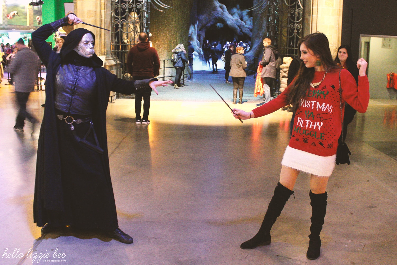wand duel with death eater