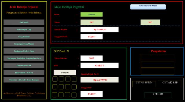 Aplikasi SPTJM Versi 1.4 Menggunakan Format Excel | Berkas Sekolah
