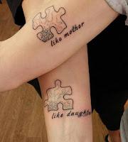 tatuaje puzzle tal madre tal hija