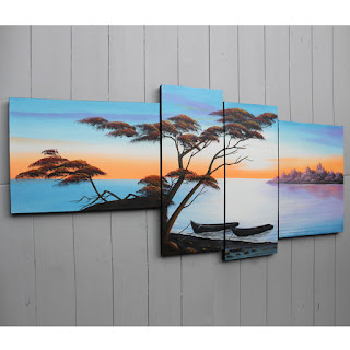 lukisan pemandangan sederhana dengan harga murah terjangkau