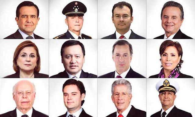 ¿Conoces los mega sueldazos y prestaciones del gabinete de Enrique Peña Nieto?