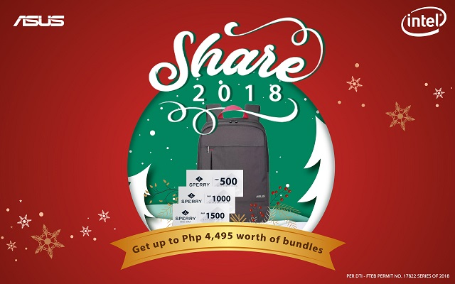 ASUS Share 2018 Christmas Promo Laptops