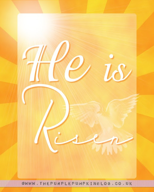 He Is Risen - Easter Free Printable Poster