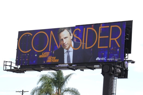 Consider Late Night Seth Meyers 2018 Emmy billboard