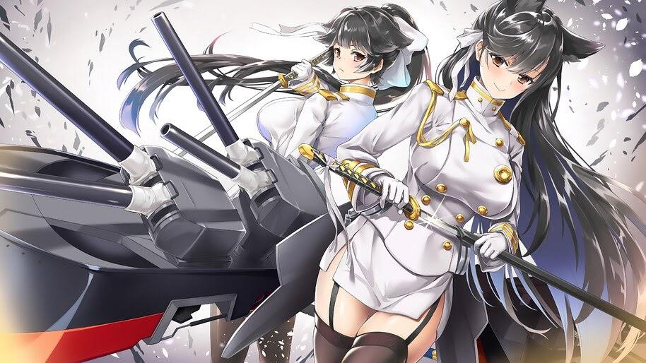 Azur Lane, Takao, Atago, Anime Girls, 4K, #4.1707