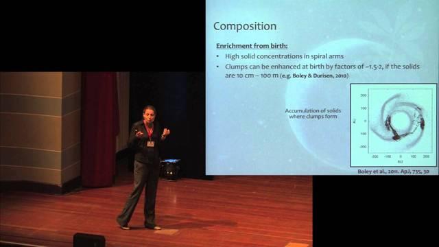 Prof. Ravit Helled habla en una conferencia en Alemania en 2013. (captura de pantalla: YouTube)
