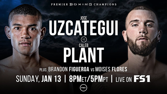 Jose Uzcategui Vs Caleb Plant Fight Banner