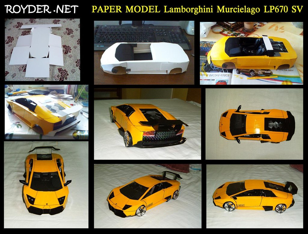 Lamborghini Murcielago SV Template Download