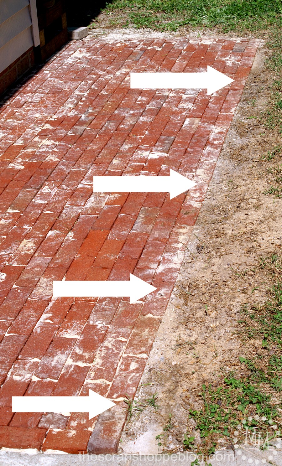 how to build a brick patio - addressing flooding issue