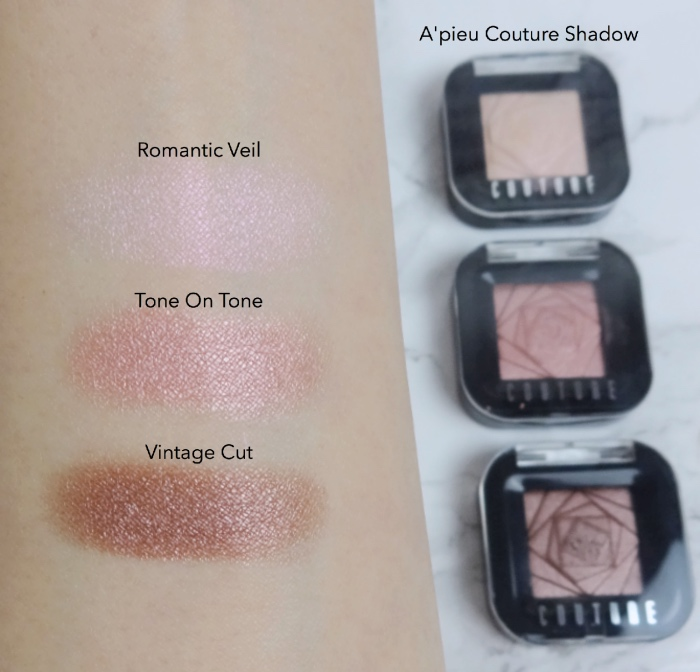 A'pieu Couture Eyeshadow swatches