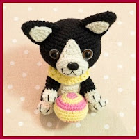 Boston terrier amigurumi