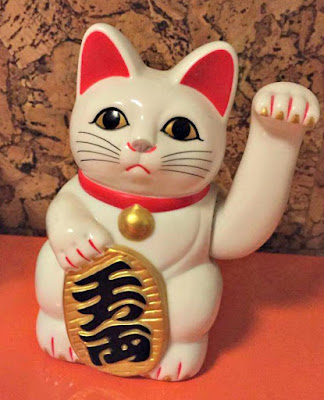 White Chinese Lucky Cat Ornament