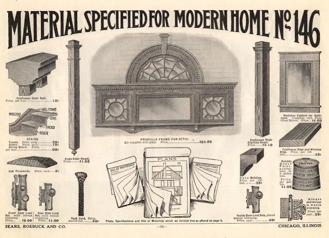 Sears Saratoga front gable window in 1914 catalog