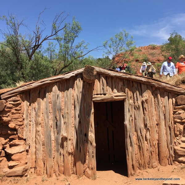 bark house at Palo Duro Canyon State Park in Canyon, Texas