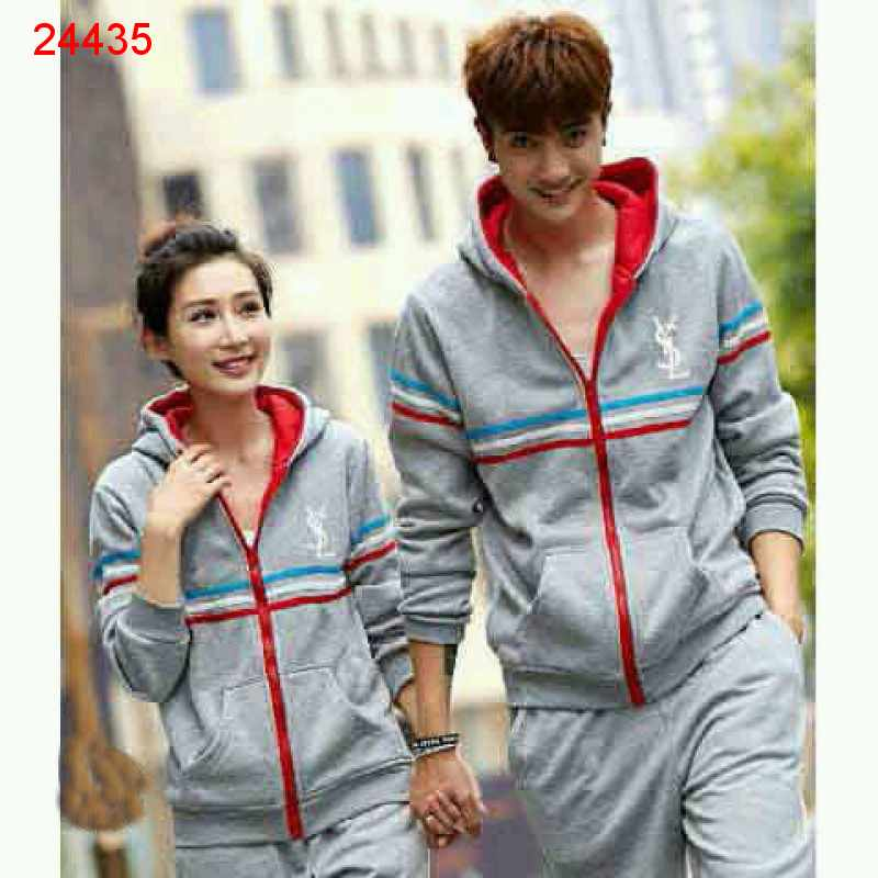 Jual Jacket Couple Jacket Sport YSL Abu - 24435