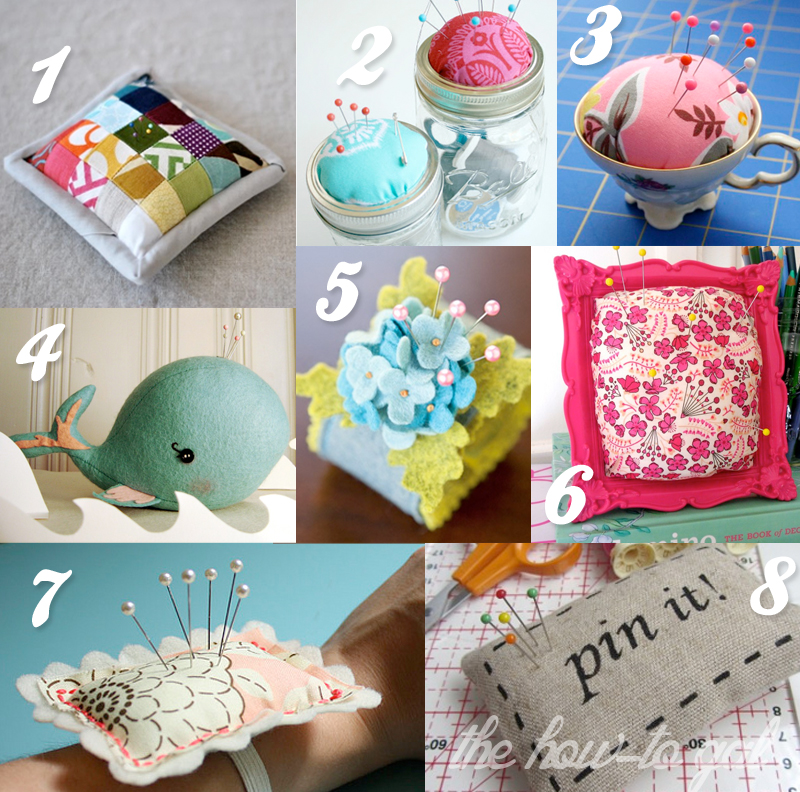 The How-To Gal: DIY Pin Cushion Roundup