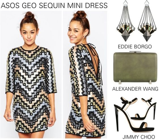 Asos Geo Sequin Mini Dress www.toyastales.blogspot.com #ToyasTales
