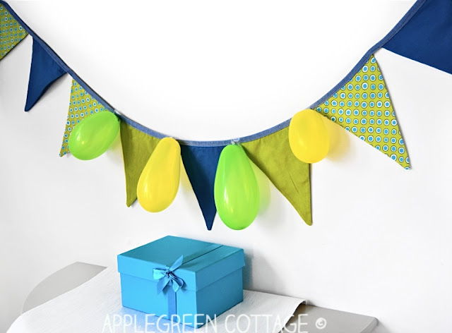 free sewing pattern for fabric bunting