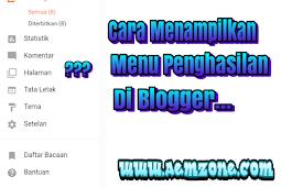 Tidak ada menu penghasilan di blogger? Lakukan cara ini untuk menampilkan menu penghasilan di blogger