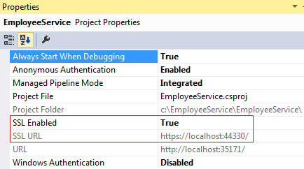 enable ssl in visual studio 2015