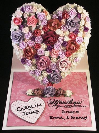 varma gratulationer på bröllopsdagen Ziros scraphörna och kortmakeri: Blommigt hjärta som bröllopskort varma gratulationer på bröllopsdagen