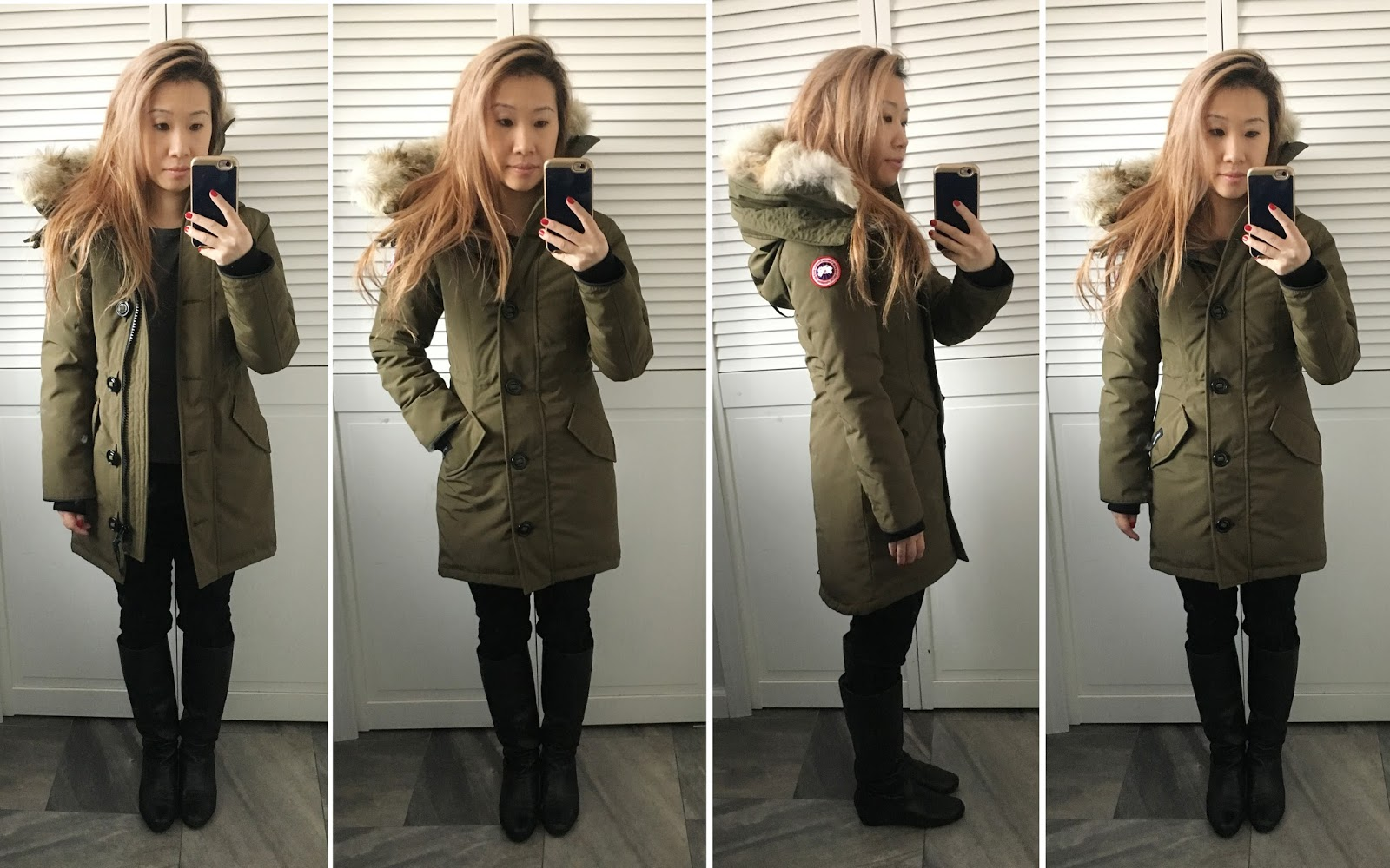 canada goose rossclair military green