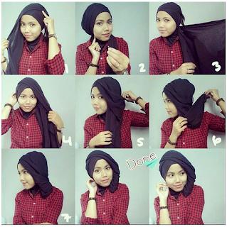 Model hijab untuk wisuda yang keempat