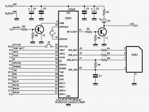 electronic project  localizer with sim908 module