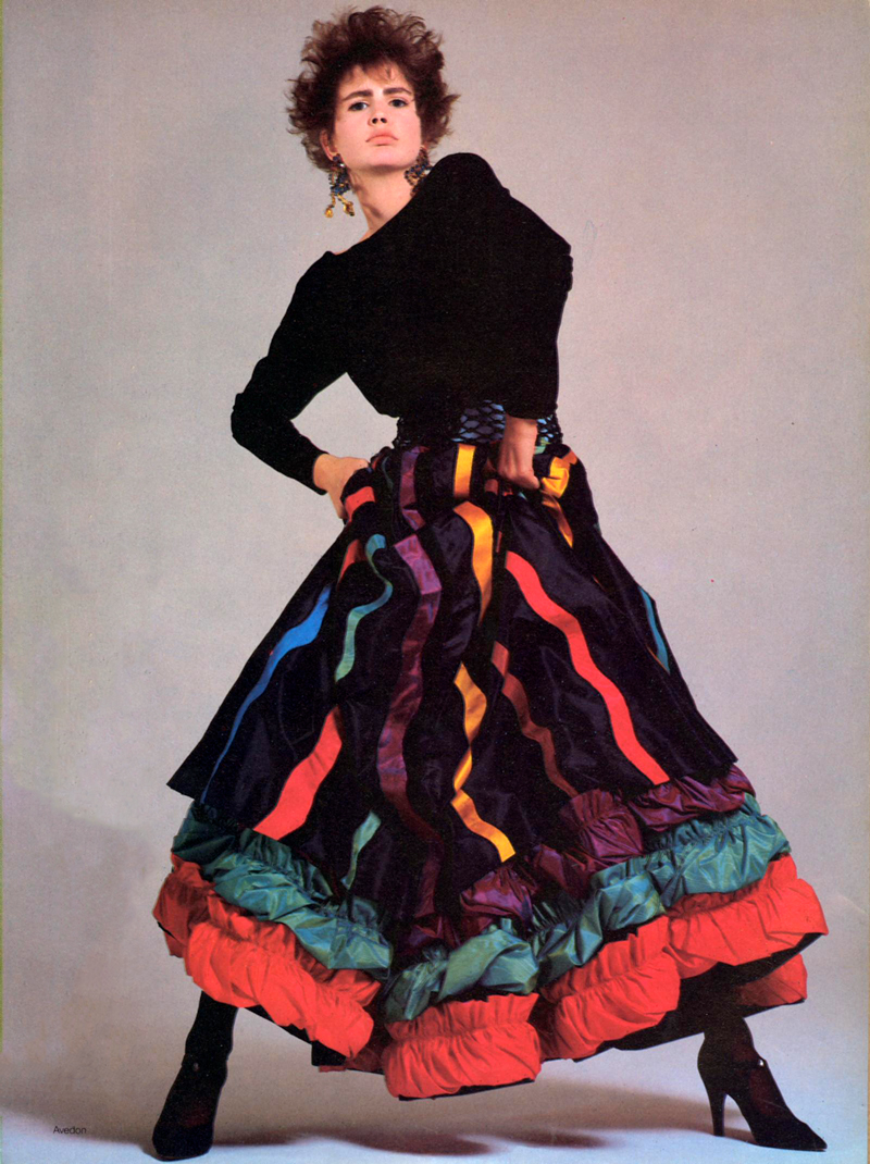 Yves Saint Laurent in Vogue US October 1984 (photography: Richard Avedon) via www.fashionedbylove.co.uk