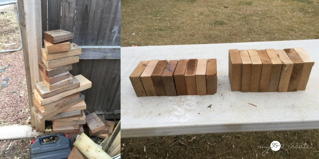 wood for building stocking hangers