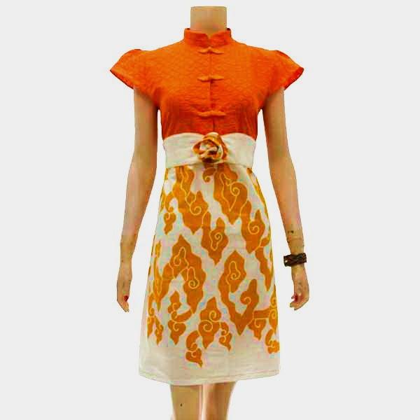 Batik Tulis Dress: Dress Batik Tulis Bagoes Solo KODE : DB 3726