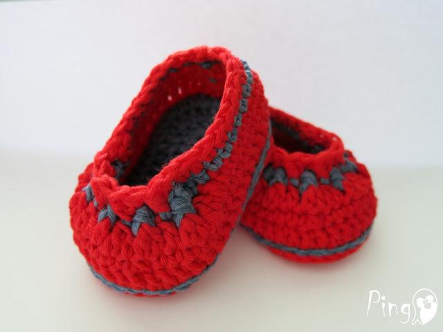 Crochet Baby Booties Amanda, Crochet Pattern by Pingo - The Pink Penguin