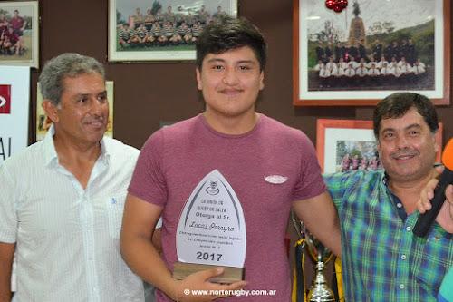 Lucas Pereyra mejor juvenil 2017 de la Unión de Rugby de Salta