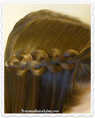 Waterfall chain braid video tutorial