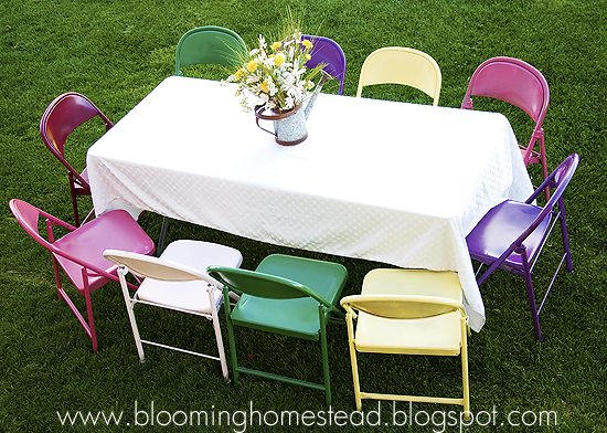 Painted Metal Chairs (favorite projects) - Blooming Homestead