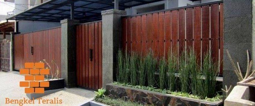 pintu dorong kayu 1