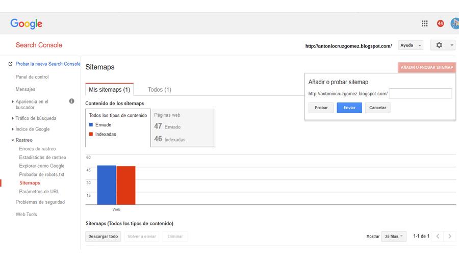 Herramienta de Webmaster de Google