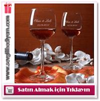 Kişiye Özel İkili Şarap Kadehi