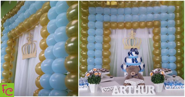 Tema Ursinhos Branco e Azul - Chá de Bebê do Arthur