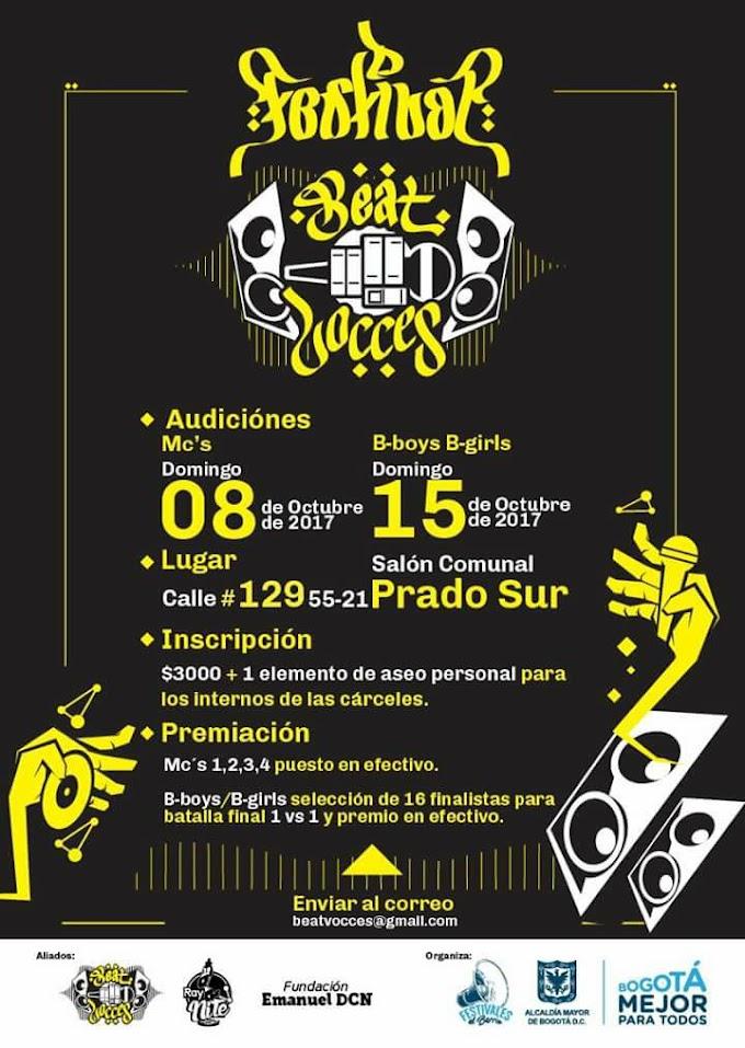 Llegaron las audiciones!!! Festival Beat-Vocces!!! | Bogota | 2017