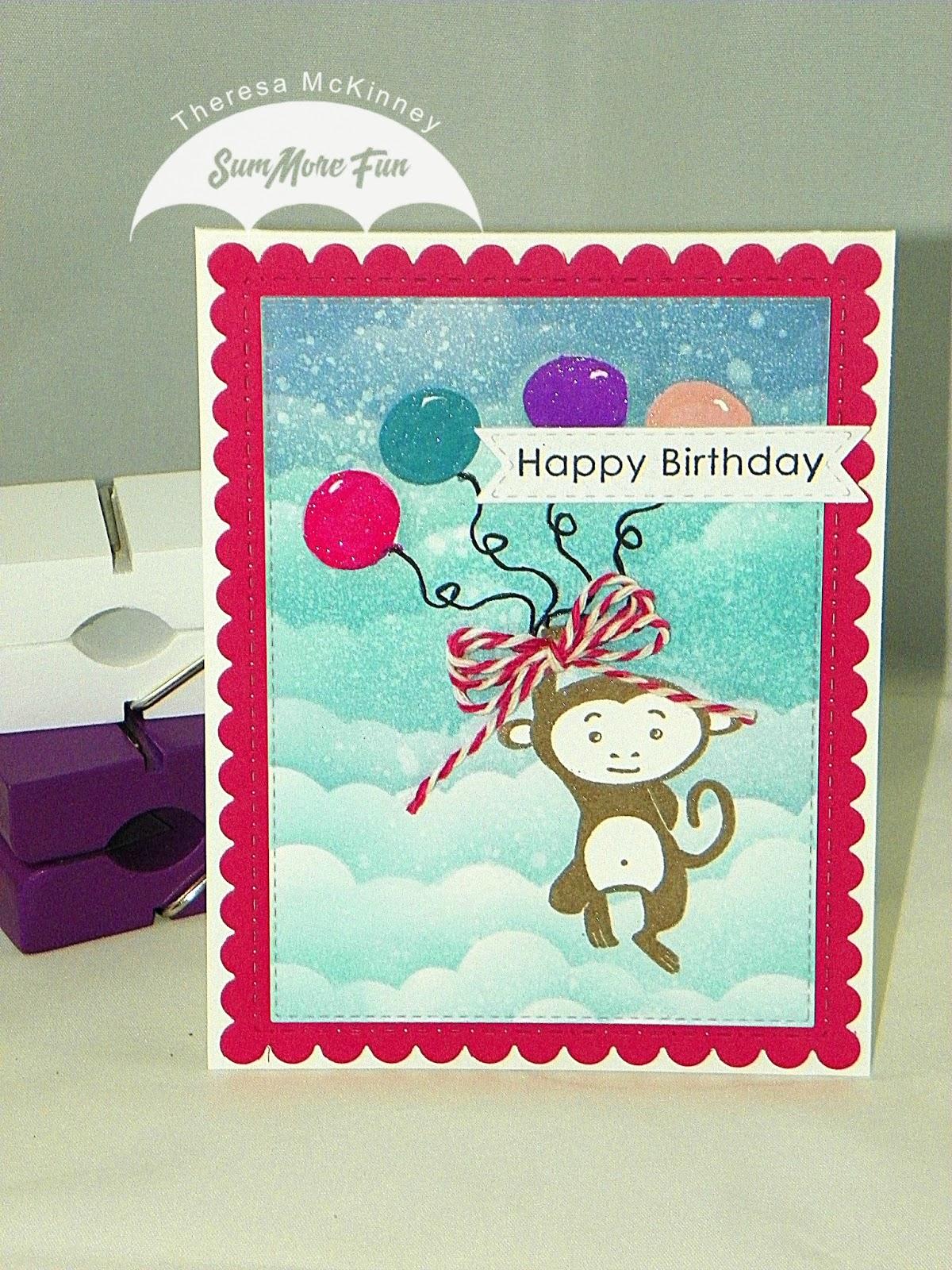 Summore Fun Happy Birthday Monkey