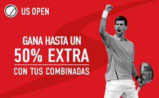 sportium 50% extra en Combinadas Open Usa 2016