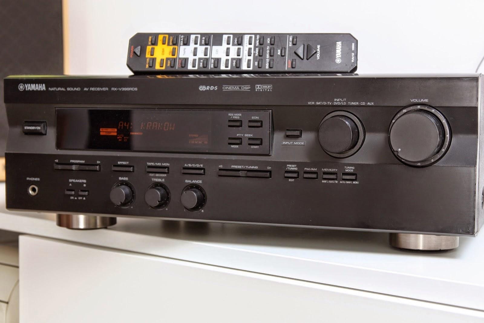 yamaha rx v396rds av receiver audiobaza. Black Bedroom Furniture Sets. Home Design Ideas