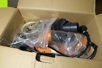 auspacken: Defort DEP-900-R Elektrohobel 900 W, Falzfunktion, Spanauswurfsystem