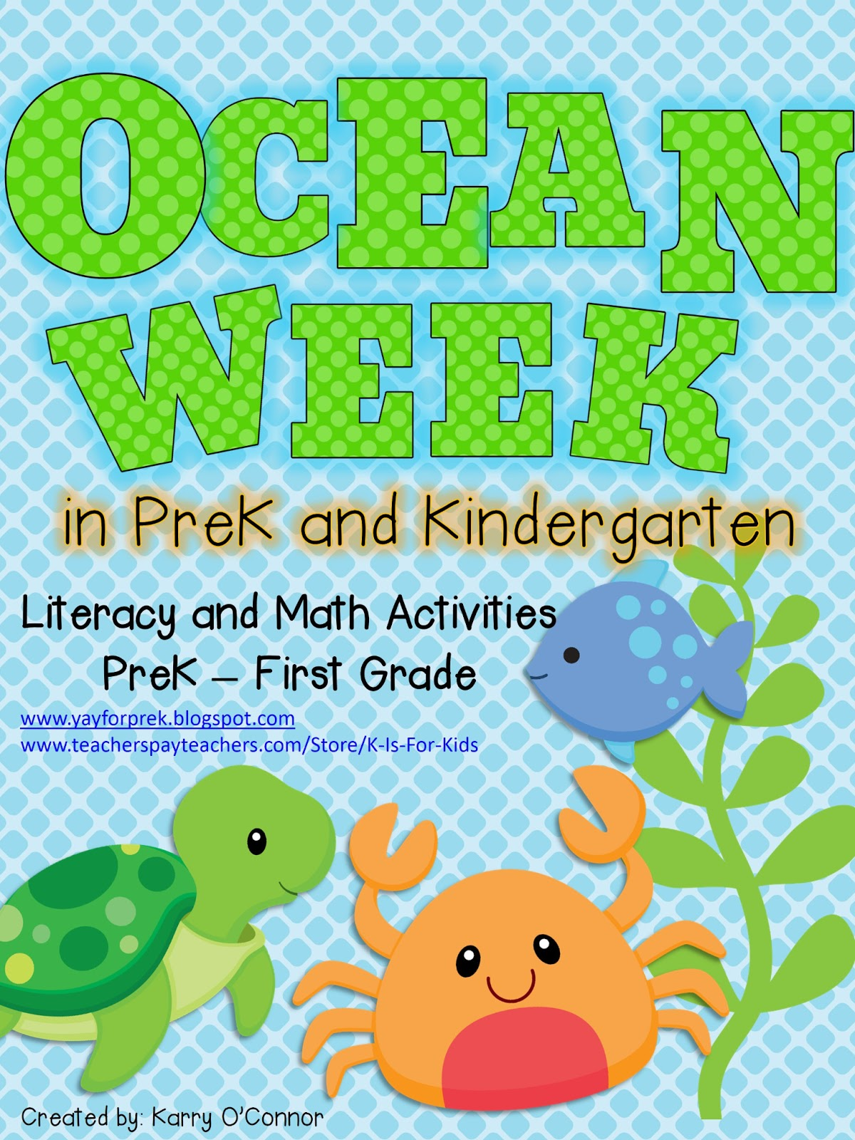 Yay For Prek Ocean Week In Prek And A Giveaway