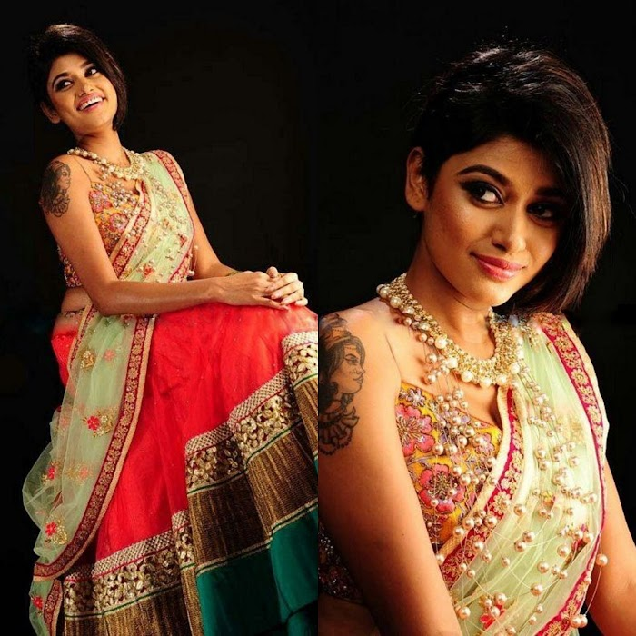 Oviya Hot and Spicy Saree Pictures-HD Images in Saree