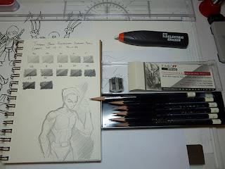 Art Supplies Reviews and Manga Cartoon Sketching: Tombow Mono