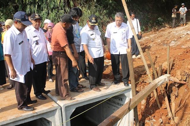 Perbaikan Jembatan Balongsari Ditinjau Walikota